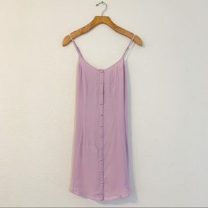 Privacy Please Lilac Button Up Tie Detail Dress XS